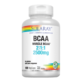 SOLARAY BCAA 2500MG 120 VEGCAPS