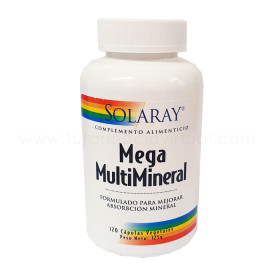 SOLARAY MEGA MULTI MINERAL 120 VEGCAPS