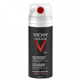 VICHY HOMME DESOD SPRAY 72 H TRIPLE DIFUS 150 ML