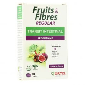 ORTIS FRUITS & FIBRES TRANSIT INTESTINAL 30 CÁPSULAS