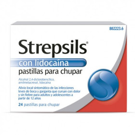 STREPSILS CON LIDOCAINA 24 PAST