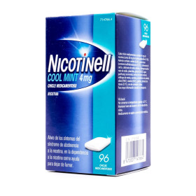NICOTINELL 4MG CHICLES MEDICAMENTOSO MENTA S/AZÚCAR 96