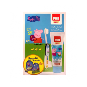 PHB PACK INFANTIL PEPPA PIG GEL75ML + CEPILLO + REGALO