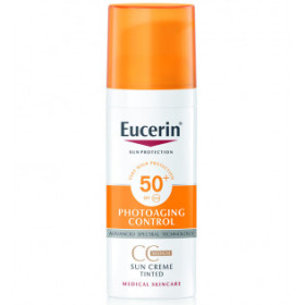 EUCERIN CREMA COLOR SOLAR FACIAL FPS50+ 50 ML