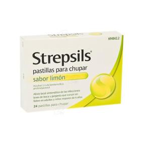 STREPSILS LIMON SIN AZUCARES 24 PAST