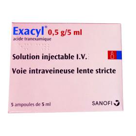 EXACYL 0,5G/5ML INY IV 5 AMP (AMCHAFIBRIN)